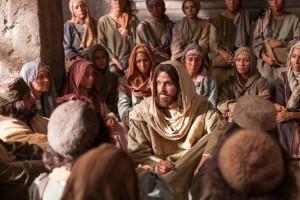 Ježíš učí na veřejnosti