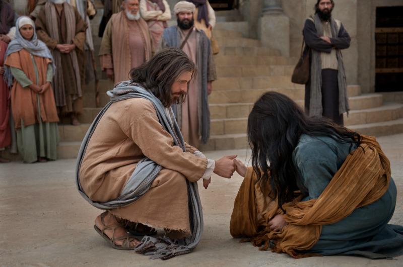Ježíš a žena přistižená při cizoložství