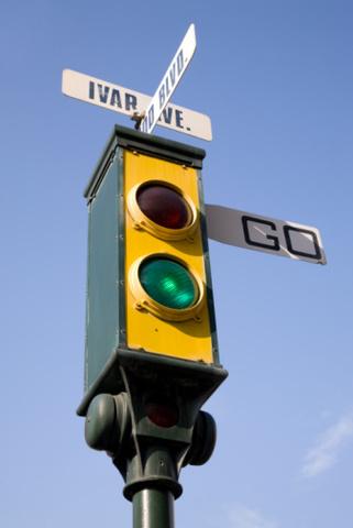 První semafor v Salt Lake City