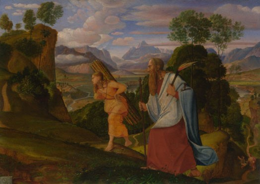 Abraham jde sIzakem na kopec