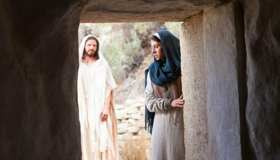 Jezis Kristus aMarie Magdalena uhrobu