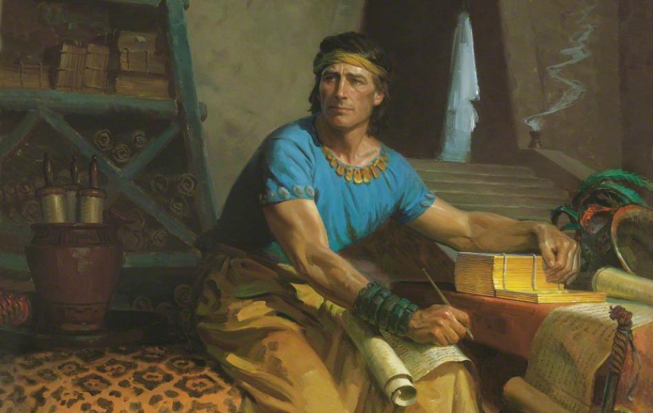 Mormon sepisuje zaznamy na zlate desky