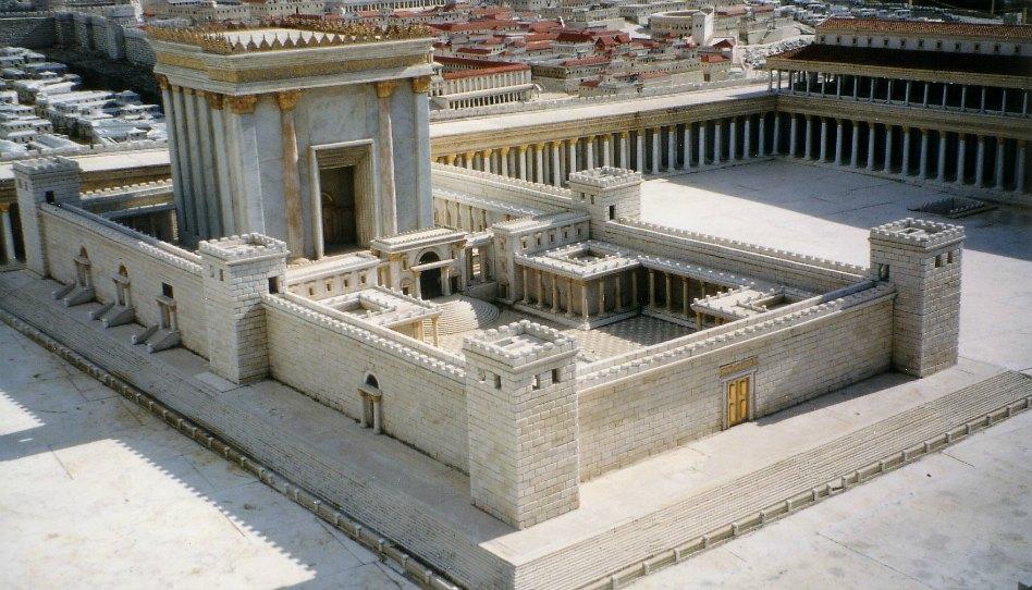 Model druhého chrámu, zhotovený Michaelem Avi-Yonahem