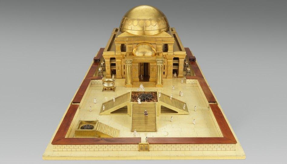 Umělecký model Šalamounova chrámu (prvního) zhotovený Thomasem Newberrym