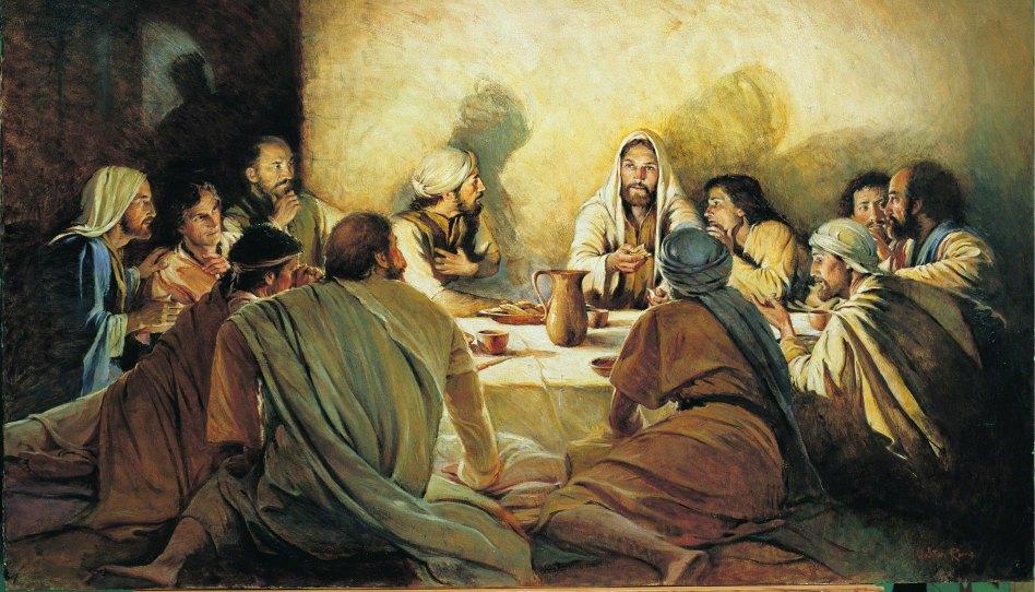 Ježíš s učedníky - obraz Waltera Ranea