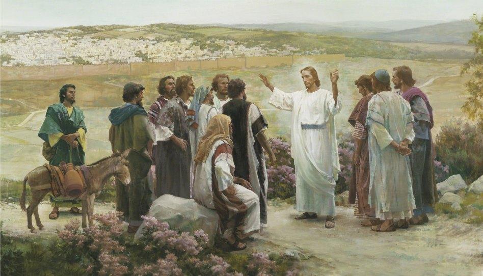 Vzkříšený Ježíš se zjevuje učedníkům - obraz Harryho Andersona