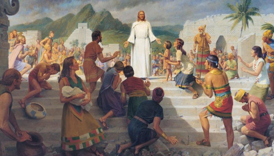 Ježíš Kristus se zjevuje po svém ukřižování Nefitům